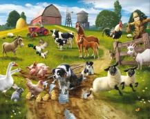 Tapeta 3D Walltastic - Farmyard Fun 2